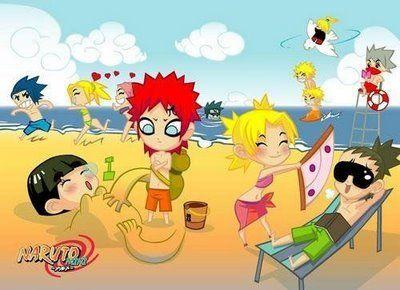 Les minis naruto à la plage Gaara And Rock Lee Vs Kimimaro